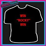WIN ROCKY WIN 80'S RETRO COOL TSHIRT